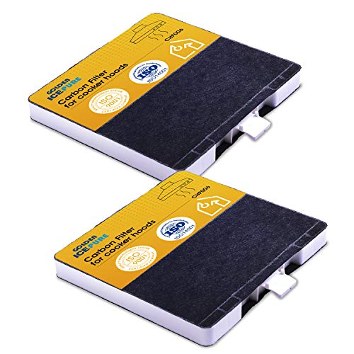 2 Stück Aktivkohlefilter Dunstabzugshaube KF6 Ersatz für Bosch dhz5325, Siemens LZ53251, Neff Z5101X1, VVZ52V40, 2 Stück von GOLDEN ICEPURE (rechnung vorhanden)