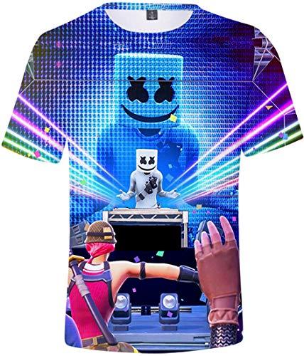 OLIPHEE Camisetas con 3D Impresa de Anime de DJ Music Personalidad para...