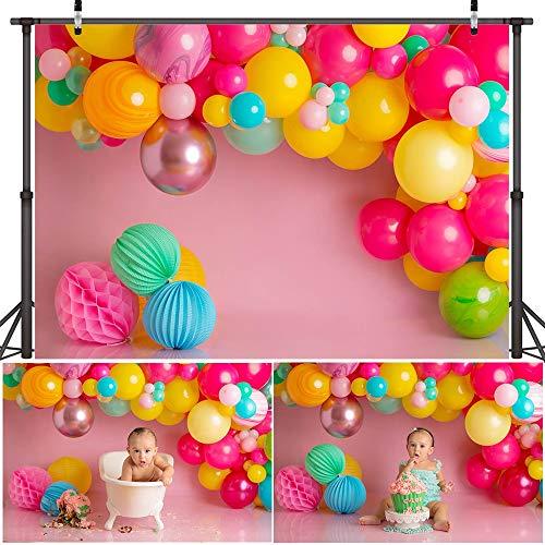 Twinkle Sliver Star Hintergrund Fototermin Regenbogen Luftballons Kinder Mädchen...