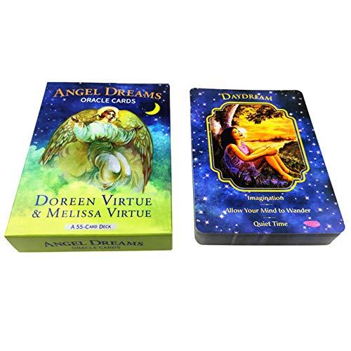 WOWOWO Angel Dreams Oracle Card Full English 55 Karten Deck Spielkarten Divination Brettspiel