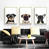 WANGHH Baby Mops Yorkshire Terrier Hund Tier Poster