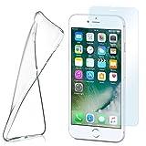 MoEx Funda de Silicona Compatible con iPhone 7 / iPhone 8 [360 Grados] Protector de Pantalla de Cristal con Tapa Trasera Transparente para teléfonos móviles Compatible con Apple iPhone8/iPhone7