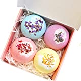 Seychelles Rose, Lavender, Calendula, Orchid Essential Oil Bath Bombs (Pack of 4)