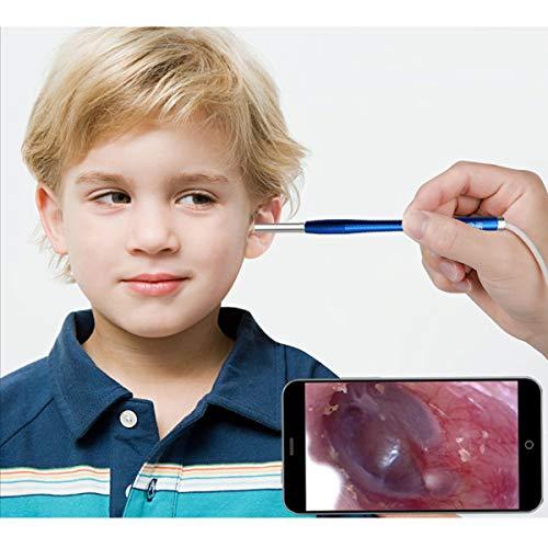 JJWBA Earscope Orecchio visivo Scoop incandescente Scavare Orecchio Scoop/Orecchio-Raccolta endoscopio endoscopio HD claorale Check per Bambini Orecchie Bocca nasale Naso endoscopio