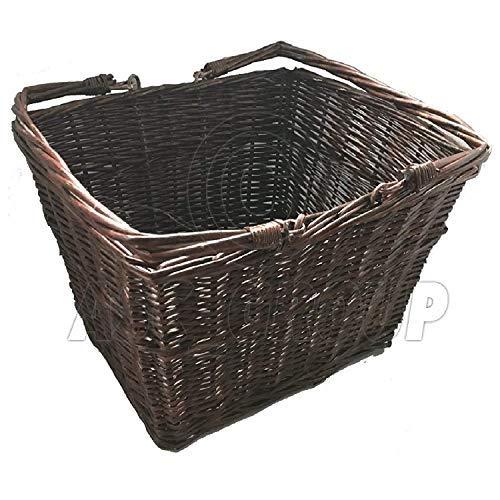 ASC Vintage Retro Style Wicker Weave Basket Brown Box Storage Tradtional