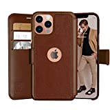 LUPA iPhone 12/12 Pro Wallet Case -Slim iPhone 12/12 Pro Flip Case with Credit Card Holder, for Women & Men, Faux Leather iPhone 12/12 Pro Purse Cases with Magnetic Closure, Caramel Brown