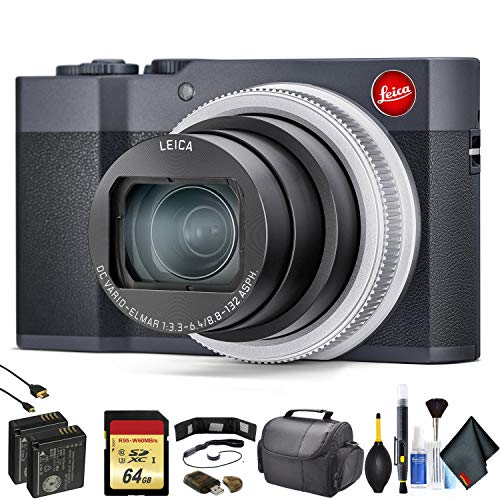 Leica C-Lux Digital Camera (Midnight Blue) 19130 - Advanced Bundle