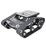 SZDoit Professional Metal Tracked Robot Tank Chassis for Arduino/Raspberry pi Project, Track Smart Car, Robotic Frame for Robot Project Graduation Design YP100