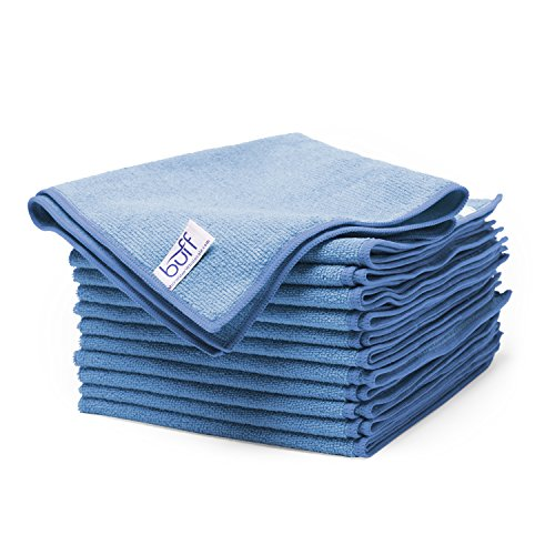 Buff Microfiber All Purpose Cleaning Cloth – 16 in. x 16 in. – 12 Pack