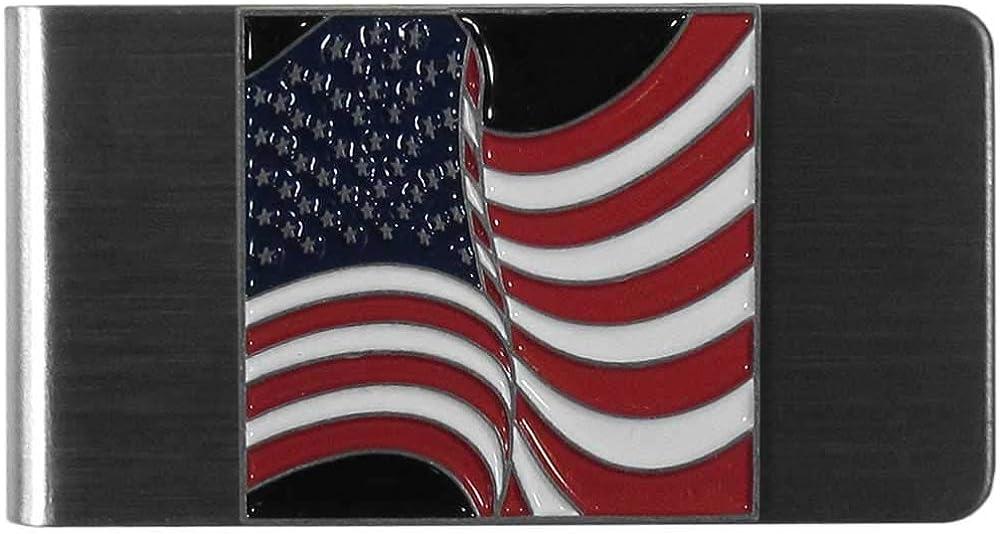American Flag Large Steel Money Clip