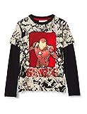 Desigual TS_Genius Camiseta, Black, 11/12 para Niños