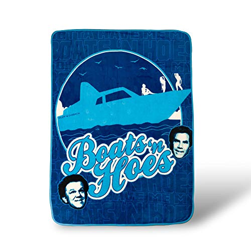 Silver Buffalo Step Brothers Boats 'N Hoes Throw Blanket | Soft Micro Plush | 45 x 60 Inches