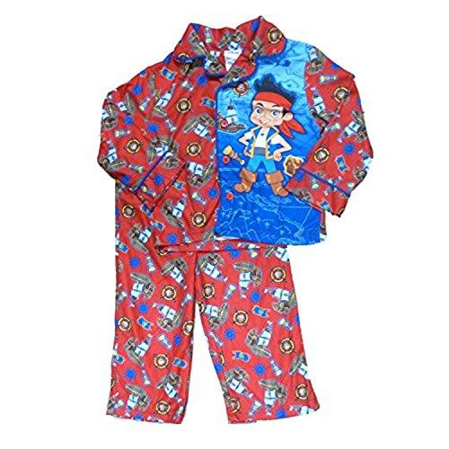 Disney Jake The Nimmerland Piraten Kleinkind Jungen Flanell Nachtw?sche Set Pyjamas 2 T