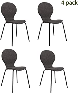 FUNCASH Dining Chairs, Set of 4 Dining Room Chair Grey...