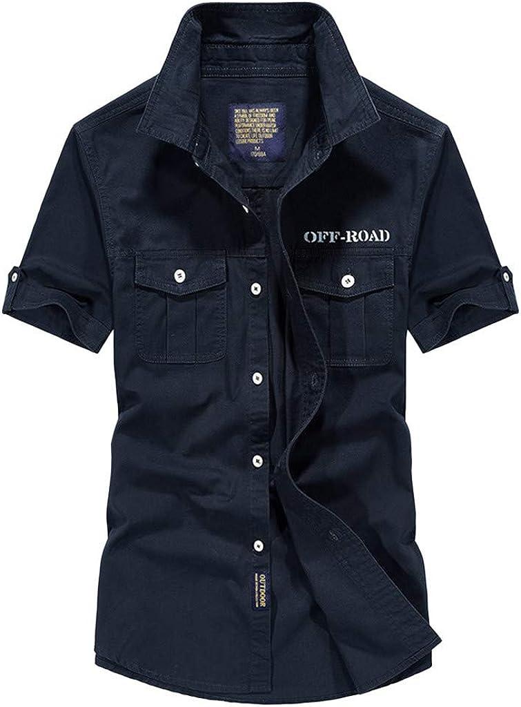 Shirt for Men half F_Gotal Max 60% OFF Men's T-Shirts Sleev Short Summer Fashion