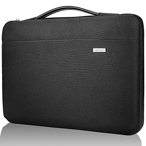 Landici Laptop Case Sleeve 14 15 15.6 Inch with Handle,360°Protective Computer Cover Bag Compatible with 16' MacBook Pro 2020,Surface Book 3/2,Hp Chromebook 14,Acer Samsung Chromebook 15.6-Black