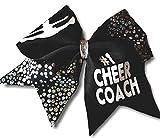 Cheer bows Black and silver sparkle #1 Cheer Coach Hair Bow