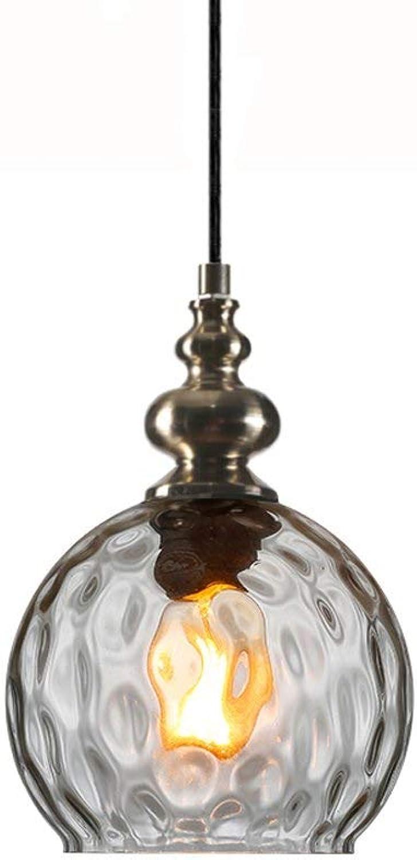 Vintage Eisen Kronleuchter, Antike Kreative LED Glas Beleuchtung Dekorative Leuchter Deckenleuchten Moderne Wohnzimmer Cafe Esstisch Pendelleuchte (Farbe   Transparent Farbe-20  28cm)