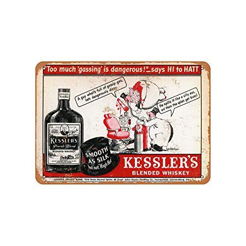 43LenaJon Kessler's Blended Whiskey vintage look metalen bord