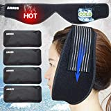Ice Pack for Jaw, Chin, Face Head - Hot Cold Therapy Wrap with Reusable Gel Pack for Pain Relief of Face, Wisdom Teeth, Dental Implant, Sports Injury, Oral Facial Surgery, TMD, TMJ, Headache Pain