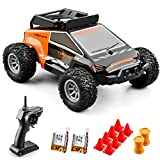 Sanwillco S638 Mini RC Racing Car with 2 Rechargeable Batteries ,2.4Ghz High Speed Remote Control Car,High and Low Speed Adjustment,Drift High Speed Off Road Stunt Truck (Orange)