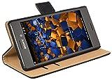 mumbi Tasche Bookstyle Case kompatibel mit Sony Xperia M4