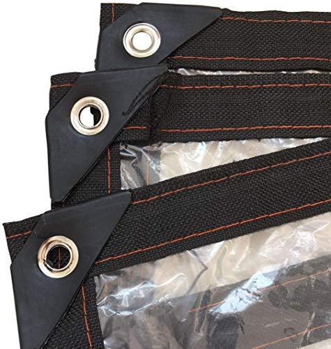 HH&BB Hohe Qualität wasserdichte Plane Leicht Außen Klar abdeckplanen Außen Fenster, Balkon, Pflanzenschutz PE Plastikzelt Tarp mit Ösen, Stärke 0,13 mm,2mX5m