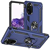 Samsung Galaxy S20 Case, Samsung S20 Case, Yiakeng Military Grade Protective Cases with Ring for Samsung Galaxy S20 (Blue)