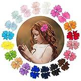URAQT 40pcs Pinces à Cheveux, Barrettes à Cheveux Nœuds, Arcs Clips Mini Cheveux Papillon Pince pour Bébé Fille Enfant Cadeau Multicolore