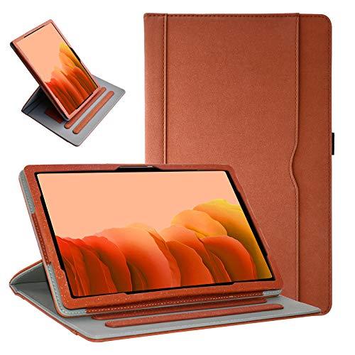 Grifobes Samsung Galaxy Tab A7 10.4 Hülle 2020 Tablet Leder Hülle, 360 Schutz Multi-Winkel Betrachtung Folio Stand Hüllen mit Stifthalter für Samsung Tab A7 10.4 Zoll SM-T500/T505/T507 (Braun)