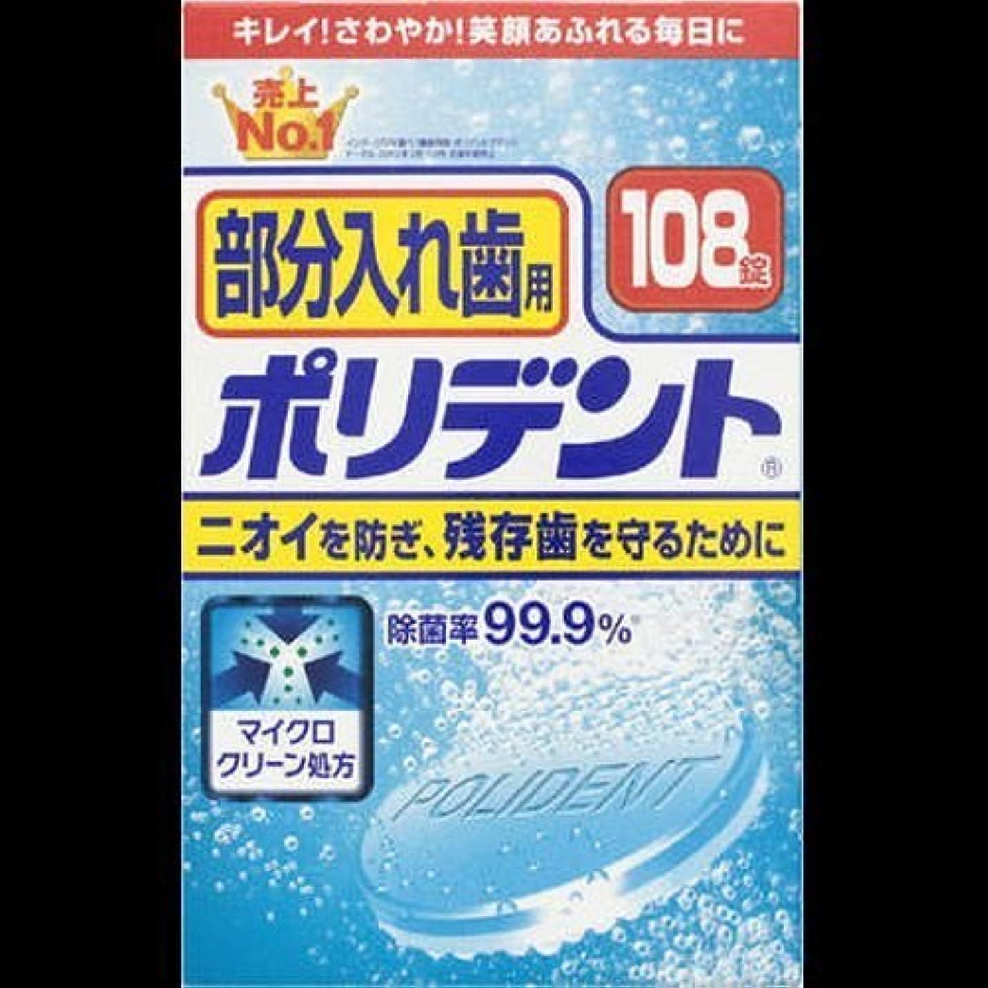 交流する居住者追跡【まとめ買い】部分入れ歯用ポリデント 108錠 ×2セット