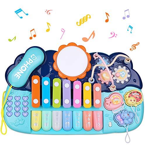 Lictin Giocattolo Educativo Musicale per Pianoforte per Bambini - Strumenti Musicali con Adorabili Suoni e Luci Tastiera Pianoforte Musicale (Confezione Scatola Colorata)