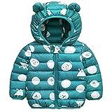 Bambini Invernale Piumino, Cappotto con Cappuccio Snowsuit Manica Lunga Outfits Giubbotto Giacca Outwear Vestiti Regalo 6-12 Mesi,Verde