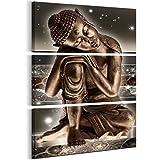 murando - Cuadro en Lienzo Buda 60x90 cm Impresión de 3 Piezas Material Tejido no Tejido Impresión Artística Imagen Gráfica Decoracion de Pared – abstracción Zen Oriental p-C-0008-b-f