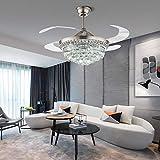 Moderno ventilatore invisibile da soffitto da 42', con telecomando e luce a LED, 3 colori (bianco e...