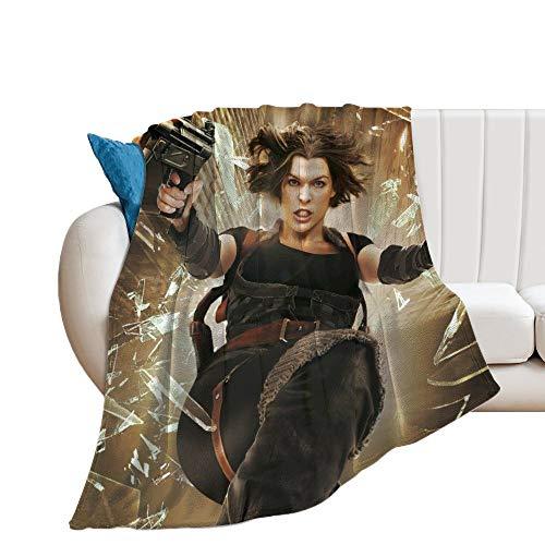 Custom made Resident Evil Afterlife Manta suave y transpirable para guardería y cuna, manta para cochecito de bebé, perfecta para cama doble, universal, 150 x 130 cm