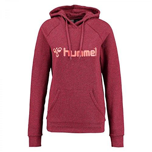 Hummel Damen Sweatshirt Classic Bee Hoodie 36310 Scarlet Melange/Fiery Coral XXL