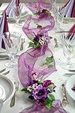 """Fibula [Style] ® Komplettset """"Purple Poppy"""" Größe S Tischdekoration für Geburtstag/Sommer/Party/Hochzeit/Taufe/Kommunion/Konfirmation/Jubiläum usw. lila für ca. 8 - 10 Personen"""