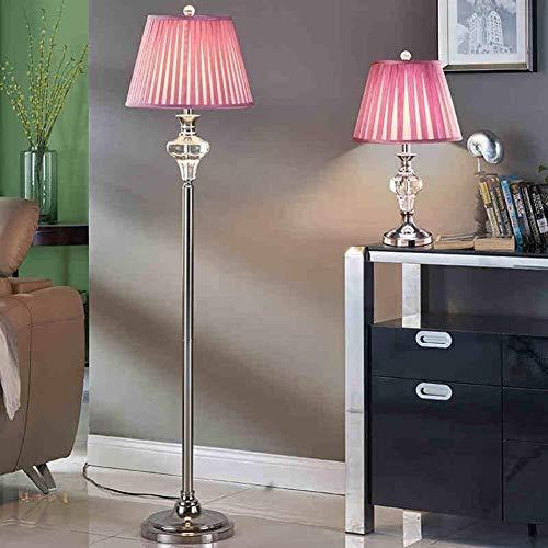Manyao Luces de Piso Cristal de Color Rosa Europeos Luces de Piso de la Sala de Estar Dormitorio lámpara de cabecera Creativo Moderno de la Moda de luz Terrestre
