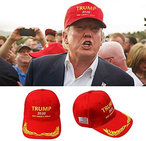 Yomi 1 Stück MAGA Trump Hat, Donald Trump Cap, Keep American Great Trump 2020 Hat – President Trump Hat Fancy Dress 005, rot, rot