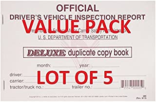 LOT OF 5 JJ Keller -15B Detailed Driver's Vehicle Inspection Report, Duplicate