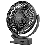 6. OPOLAR 10000mAh 8-Inch Rechargeable Battery Operated Clip on Fan, 4 Speeds Fast Air Circulating USB Fan, Sturdy Clamp Portable for Outdoor Camping Tent Beach or Treadmill Car Personal Desk