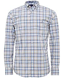 Upgrade your casual attire with the GANT Tech Prep check shirt. Expertly crafted in a blended cotton broadcloth fabric, the brown shirt has been cut a regular stretch fit to optimise comfort. Designed with Tech Prep, the shirt offers exceptional brea...