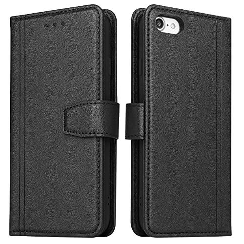 ZRANTU Hülle iPhone 6 Handyhülle mit RFID Schutz, iPhone 6S Klapphülle Leder Handytasche, Flip Hülle mit Kartenfach & Magnetverschluss Brieftasche Lederhülle für iPhone 6/ iPhone 6S (Schwarz)