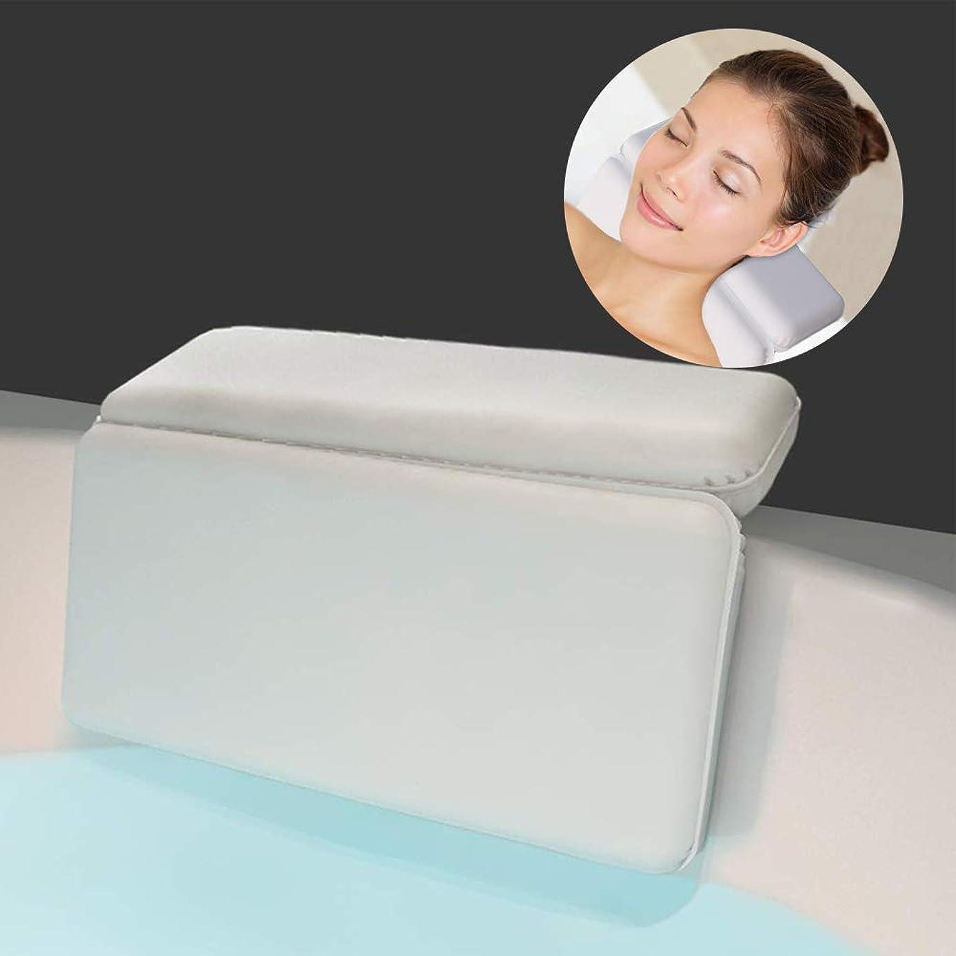 見分ける情緒的統合サクションカップ付き防水ソフトバスピローショルダー&ネックサポート用の高級バスクッション。あらゆるサイズの浴槽にフィット