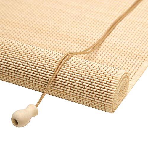 Estor Enrollables de Bambú Con Hook,Persianas Romanas Retro