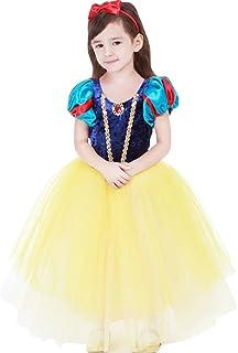 子供用 白雪姫風 ドレス+マント+カチューシャ プリンセス風 ワンピース 女児 女の子 白雪姫風 ドレス 110サイズ
