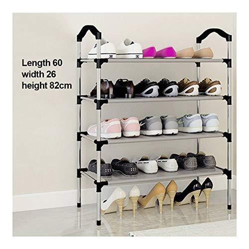 WJJ Zapatos Organizador Estante for Zapatos de 6 Niveles Organizador de Almacenamiento de Zapatos Estante for Zapatos Negro 70 * 24 * 116 CM (Size : Four(60 * 26 * 82))