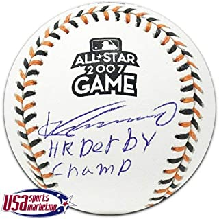 Vladimir Guerrero Angels Autographed Signed 2007 All Star Game Baseball JSA Auth