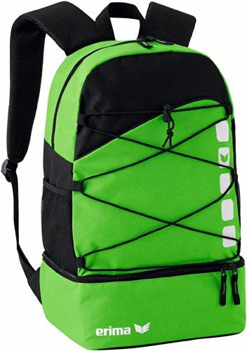 Erima CLUB 5 Multifunktionsrucksack mit Bodenfach, Green/Schwarz, 48